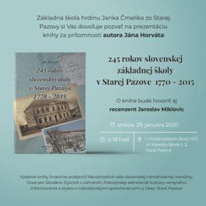 245. rokov slovenskej základnej školy v Starej Pazove